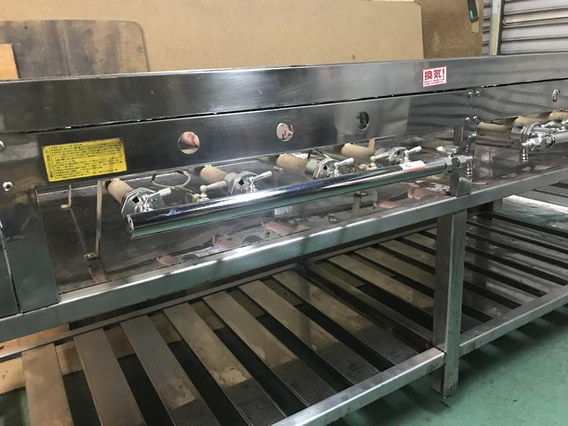 鉄板焼きガス機器 天然ガスからプロパンガスに変更